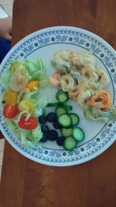 Another typical dinner. We keep it simple but eat the rainbow.