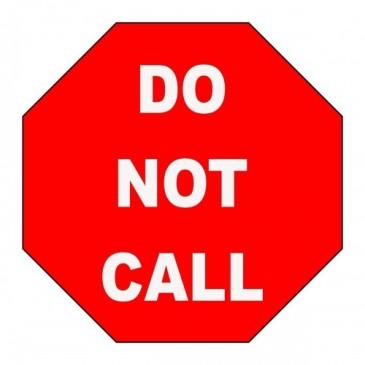 stop sign saying do not call