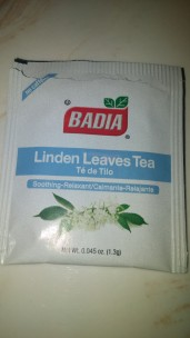 Badia brand Linden Leaves tea bag